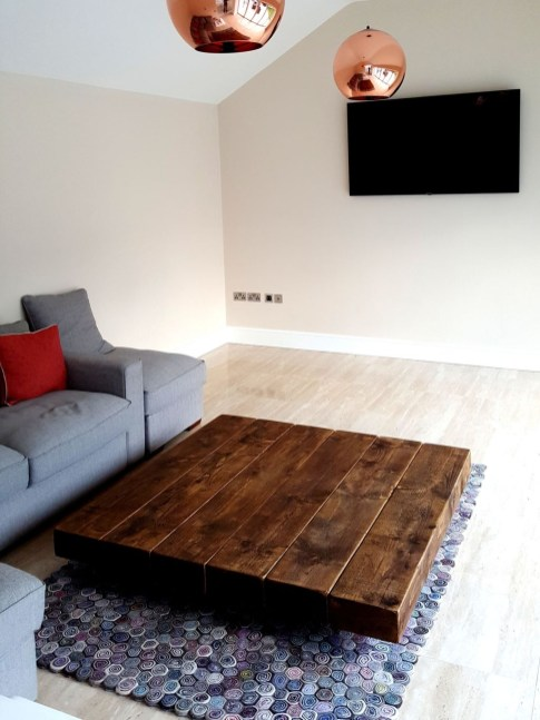Awesome Wooden Coffee Table Design Ideas 38