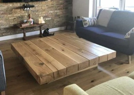Awesome Wooden Coffee Table Design Ideas 40