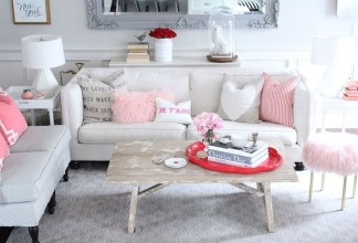 Cute Valentine Decoration For Your Living Room 39