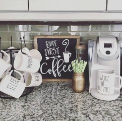 Great Coffee Cabinet Organization Ideas 13
