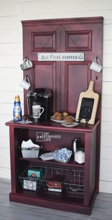 Great Coffee Cabinet Organization Ideas 34