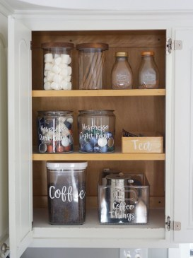 Great Coffee Cabinet Organization Ideas 42