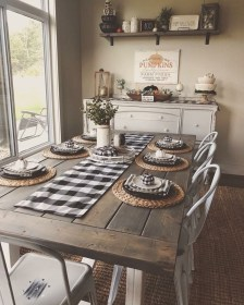 Perfect Farmhouse Dining Table Design Ideas 21