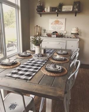 Perfect Farmhouse Dining Table Design Ideas 21