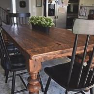 Perfect Farmhouse Dining Table Design Ideas 25