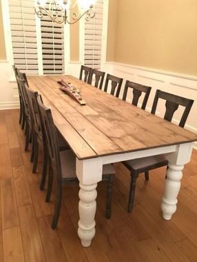 Perfect Farmhouse Dining Table Design Ideas 34