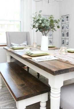 Perfect Farmhouse Dining Table Design Ideas 36