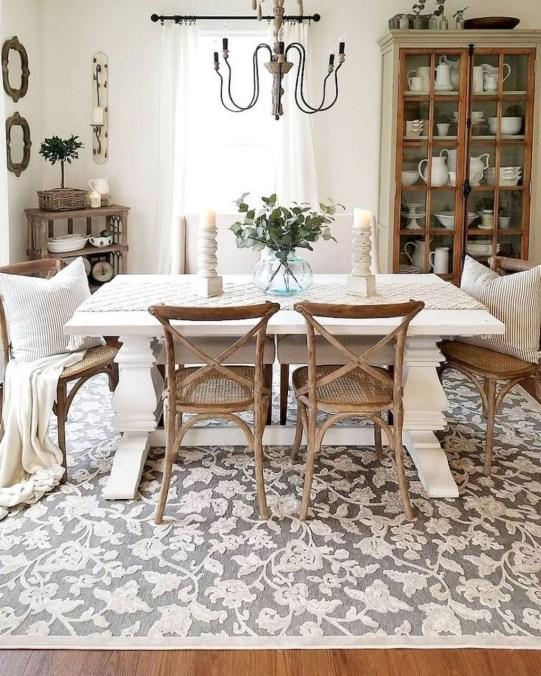 Perfect Farmhouse Dining Table Design Ideas 45