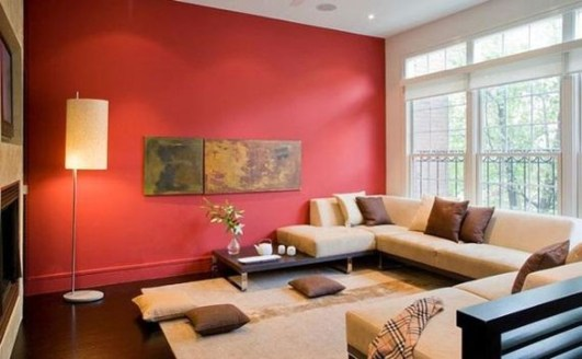 Sweet Living Room Decor Ideas With Red Color For Valentines Day 02