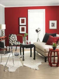 Sweet Living Room Decor Ideas With Red Color For Valentines Day 11