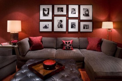 Sweet Living Room Decor Ideas With Red Color For Valentines Day 16