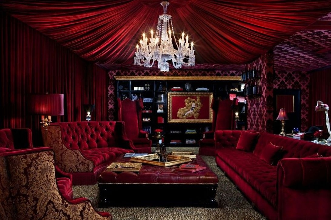 Sweet Living Room Decor Ideas With Red Color For Valentines Day 25