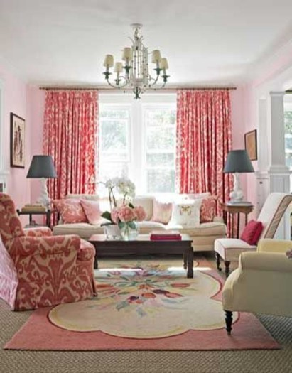 Sweet Living Room Decor Ideas With Red Color For Valentines Day 28