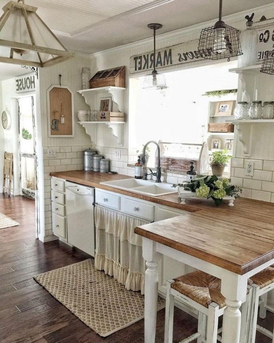 Totally Inspiring Farmhouse Kitchen Design Ideas 12