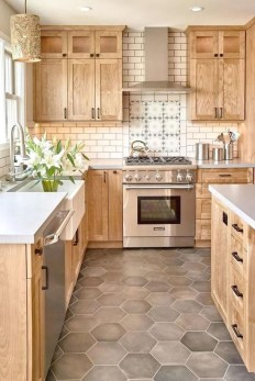 Totally Inspiring Farmhouse Kitchen Design Ideas 16