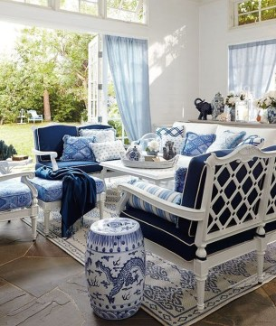 Affordable Blue And White Home Decor Ideas Best For Spring Time 44