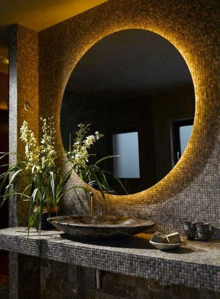Beautiful Bathroom Mirror Design Ideas 39