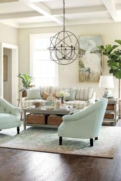 The Best Coastal Theme Living Room Decor Ideas 41