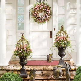 Best Easter Front Porch Decor Ideas 15