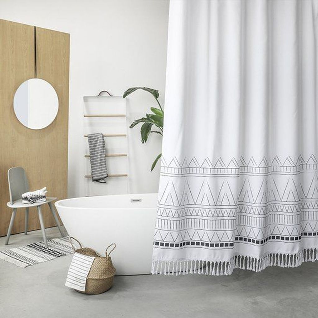Amazing Black And White Shower Curtain For Your Bathroom Decor 05