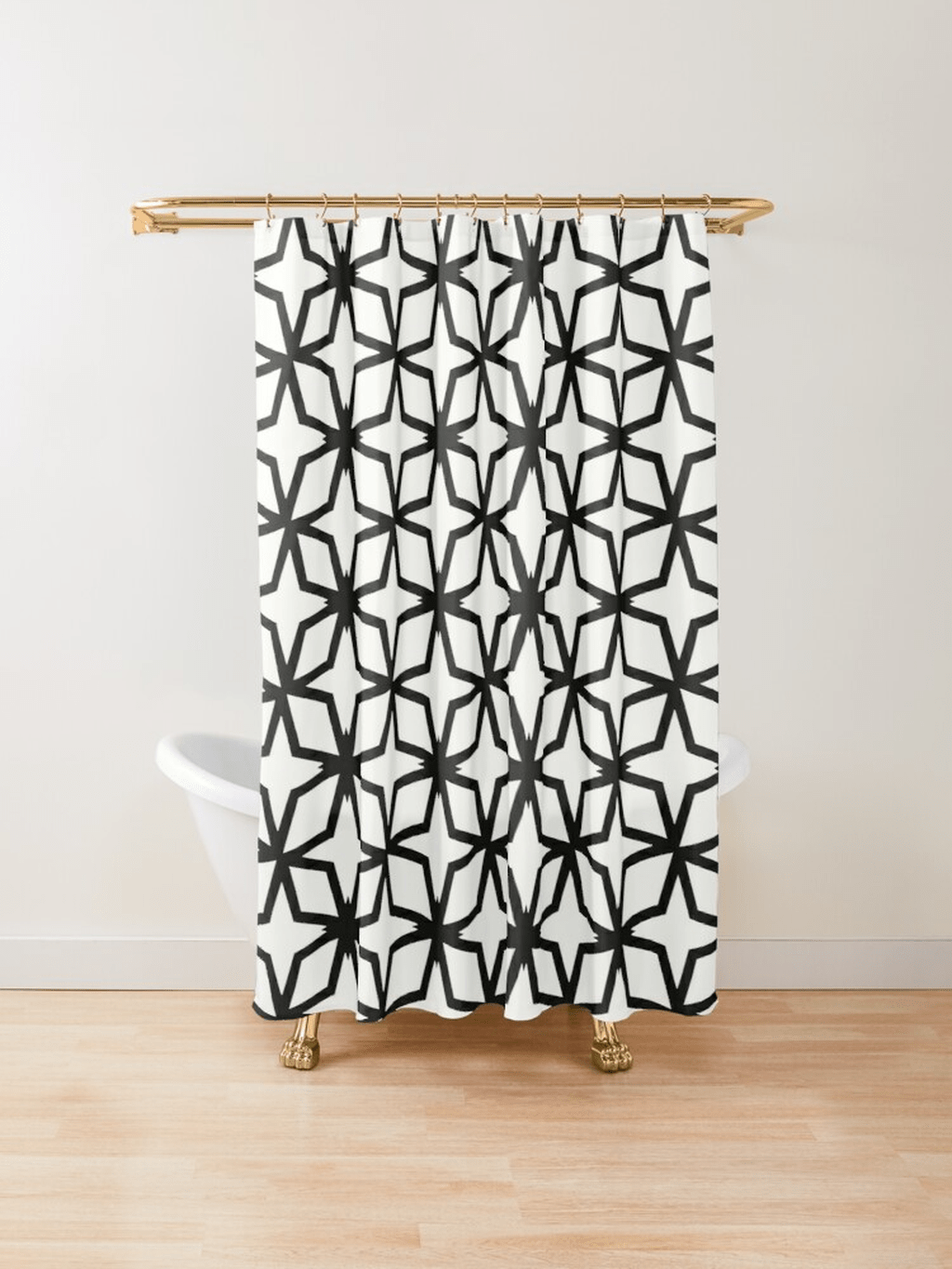 Amazing Black And White Shower Curtain For Your Bathroom Decor 13