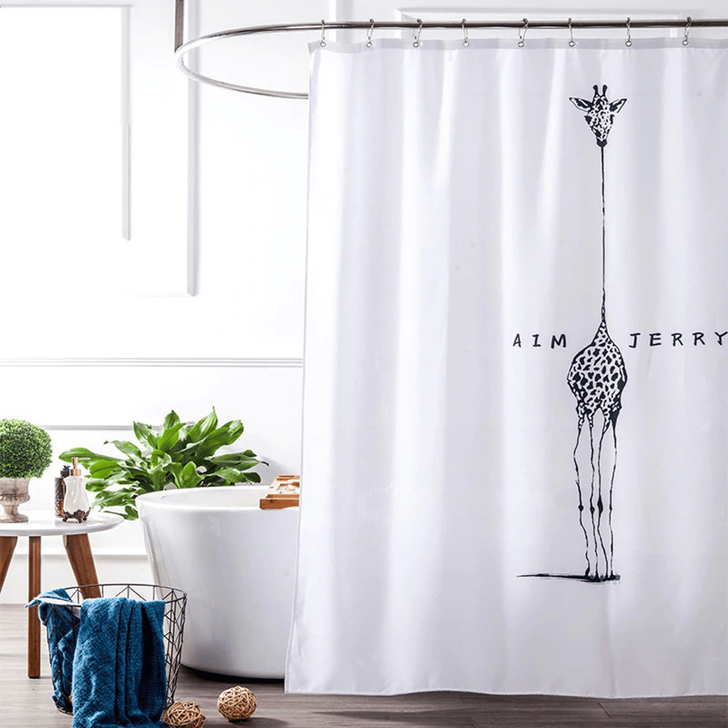 Amazing Black And White Shower Curtain For Your Bathroom Decor 14
