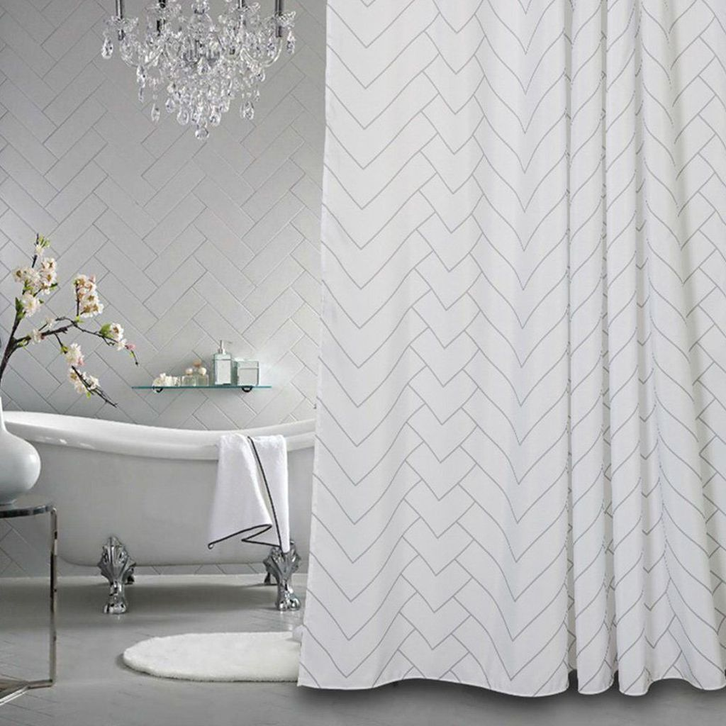 Amazing Black And White Shower Curtain For Your Bathroom Decor 16