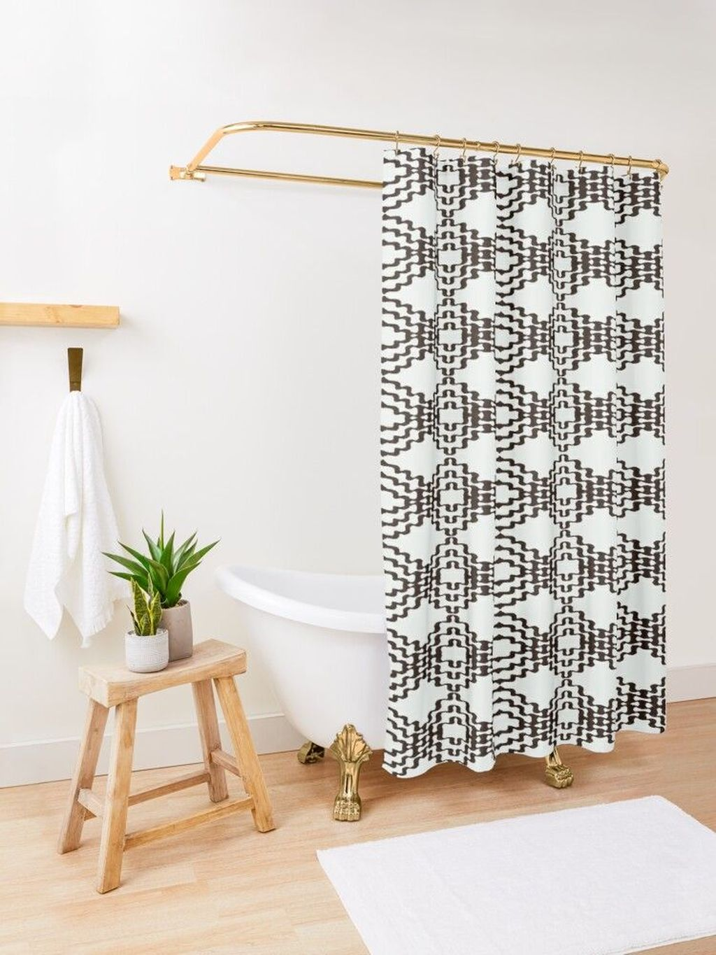 Amazing Black And White Shower Curtain For Your Bathroom Decor 20