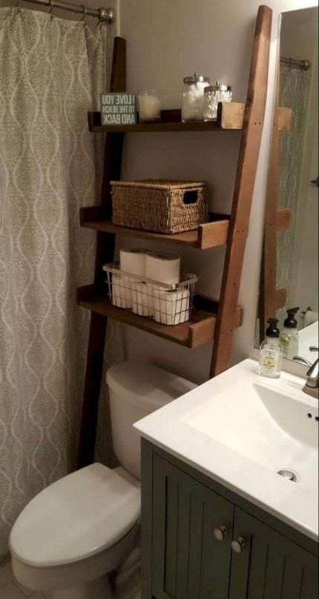 Fascinating Simple Apartment Bathroom Decor Ideas 14