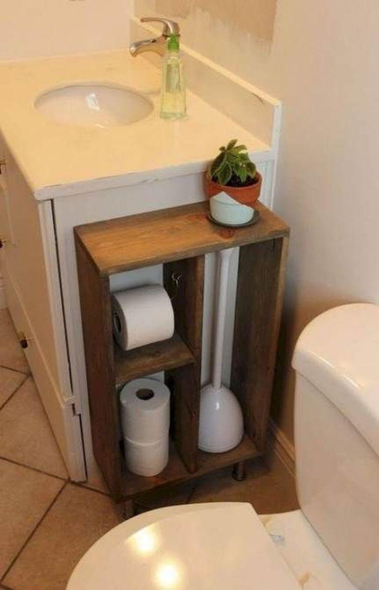 Fascinating Simple Apartment Bathroom Decor Ideas 29