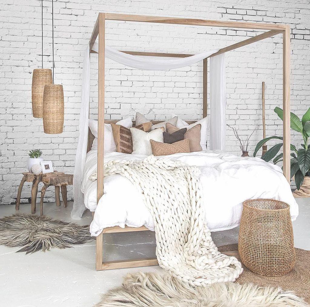 Lovely Boho Chic Bedroom Decor Idea 26