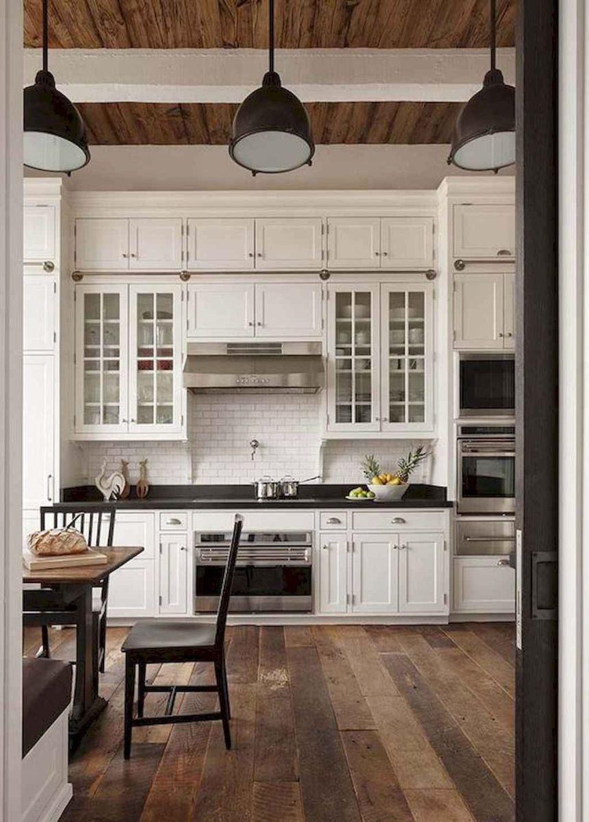 Nice Rustic Farmhouse Kitchen Cabinets Design Ideas 23