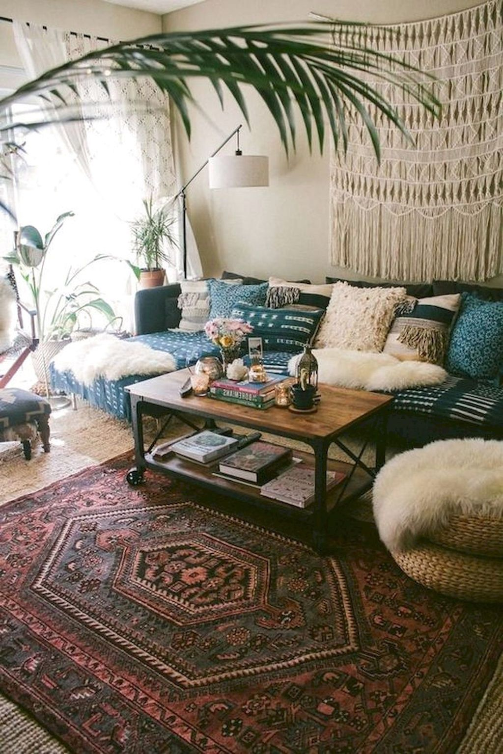 The Best Rustic Bohemian Living Room Decor Ideas 04