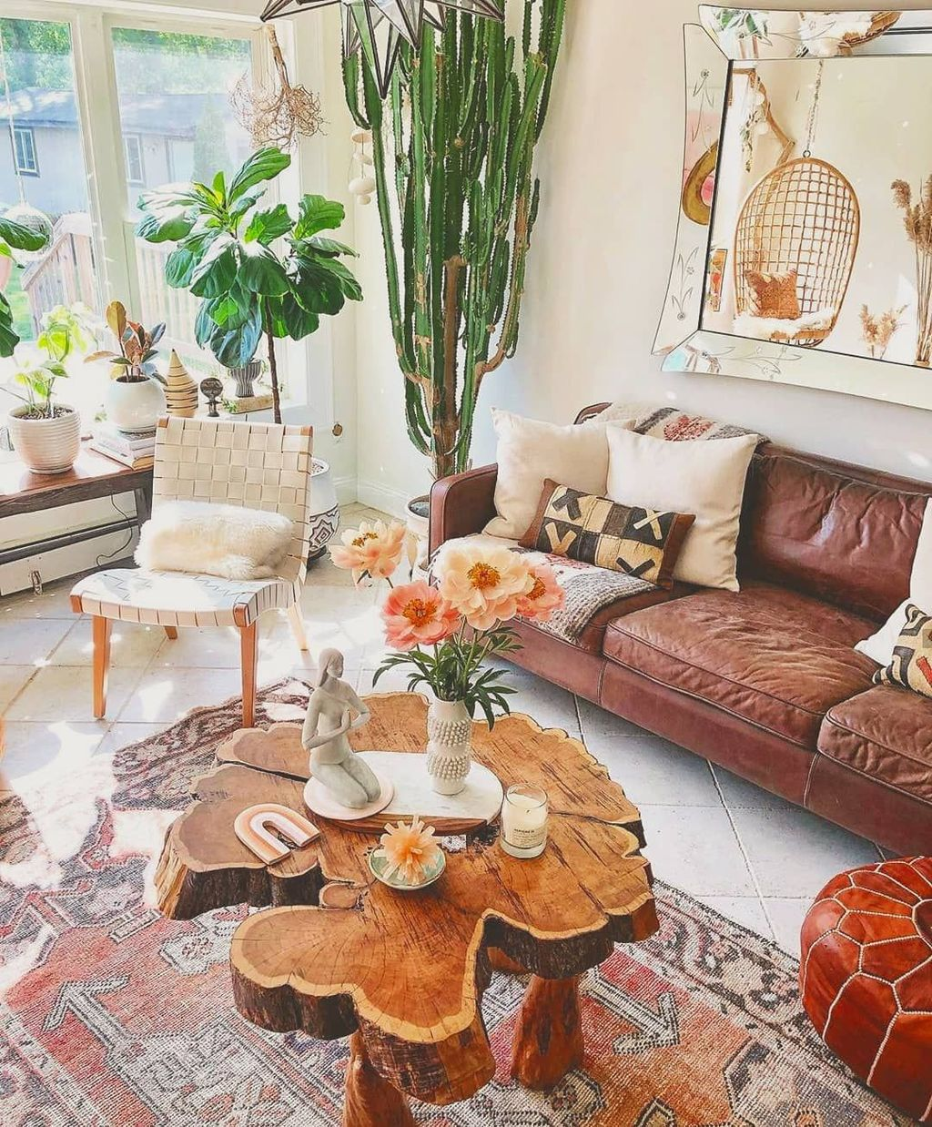 The Best Rustic Bohemian Living Room Decor Ideas 12