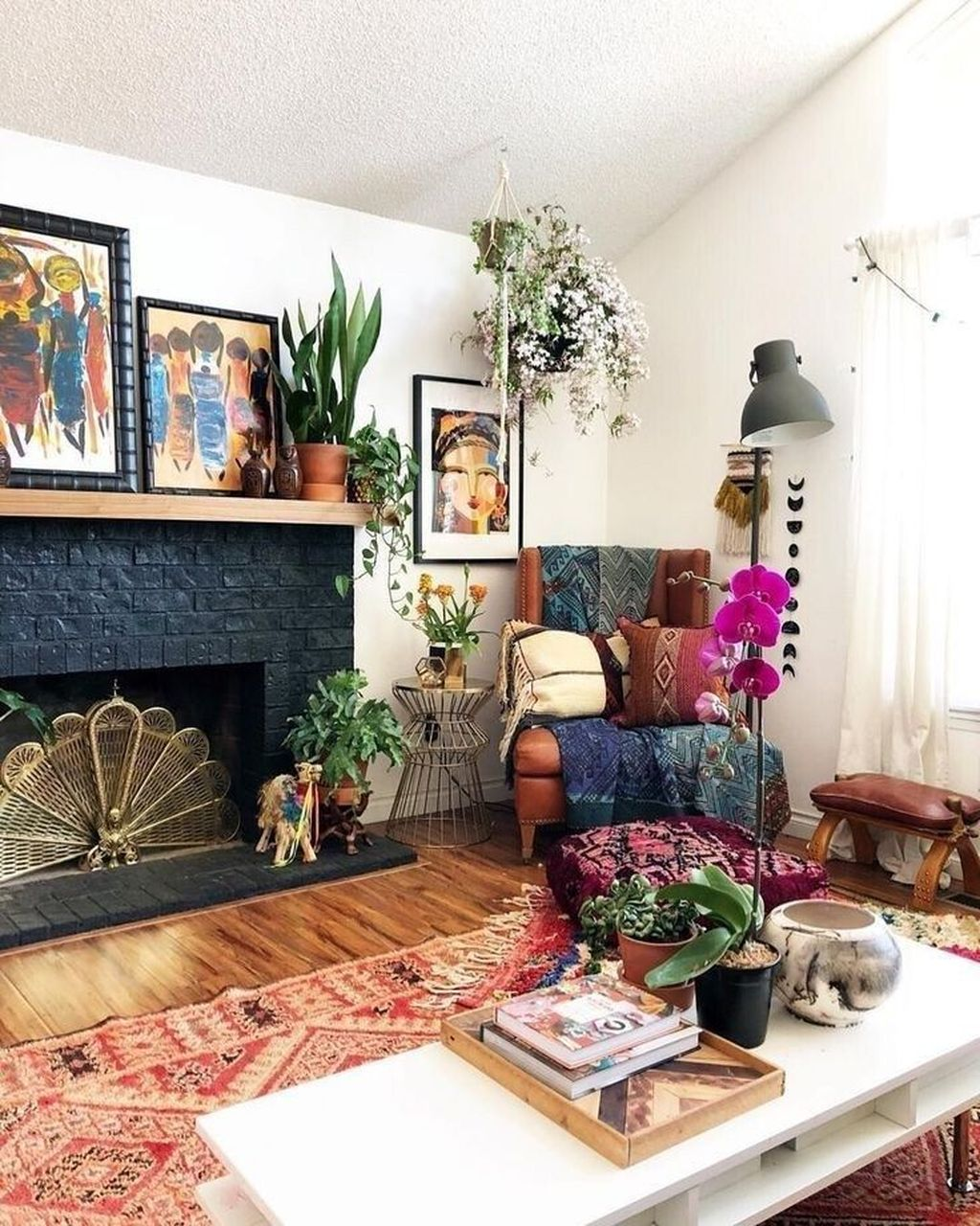 The Best Rustic Bohemian Living Room Decor Ideas 24
