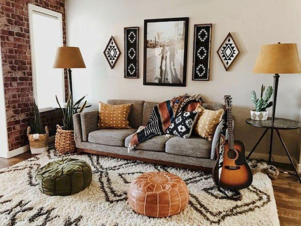The Best Rustic Bohemian Living Room Decor Ideas 29