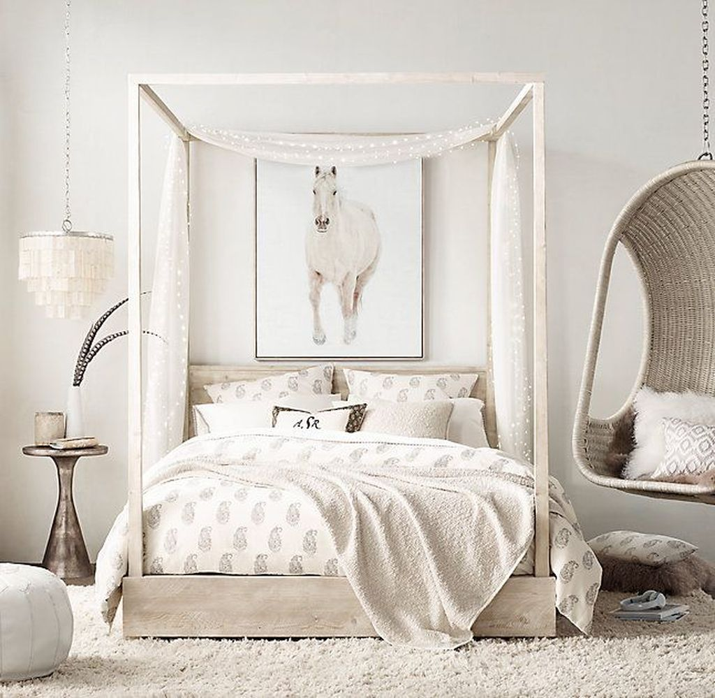 The Best White Master Bedroom Design And Decoration Ideas 08