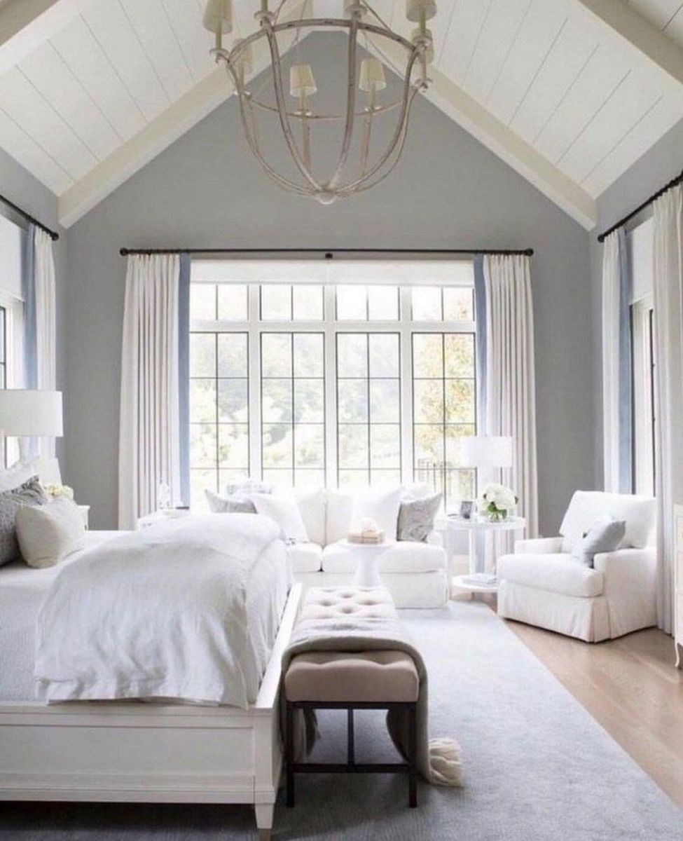 The Best White Master Bedroom Design And Decoration Ideas 12