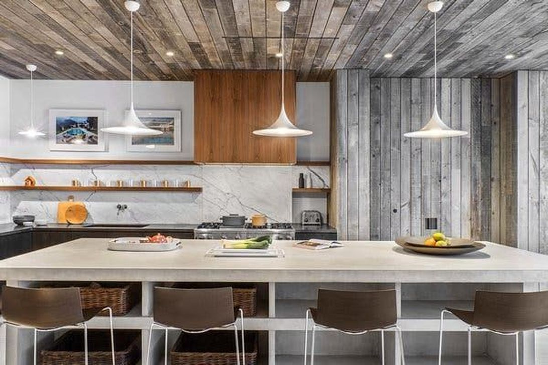 Beautiful Kitchen Design Ideas With Porcelain Slab Countertop 13