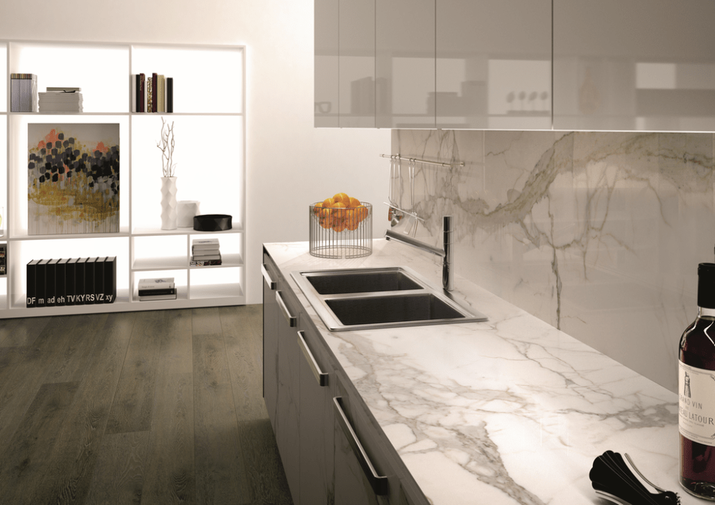 Beautiful Kitchen Design Ideas With Porcelain Slab Countertop 19