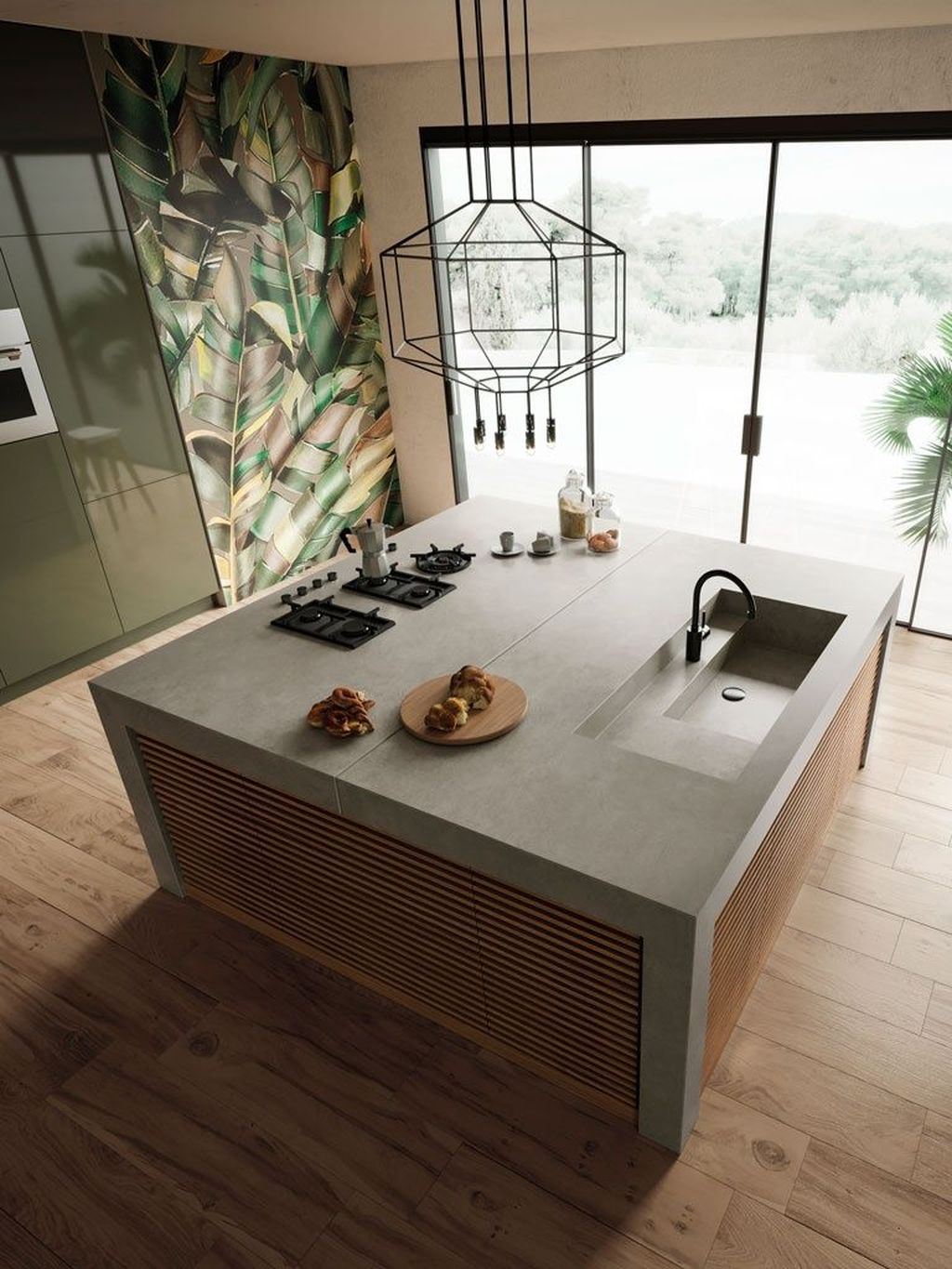 Beautiful Kitchen Design Ideas With Porcelain Slab Countertop 27