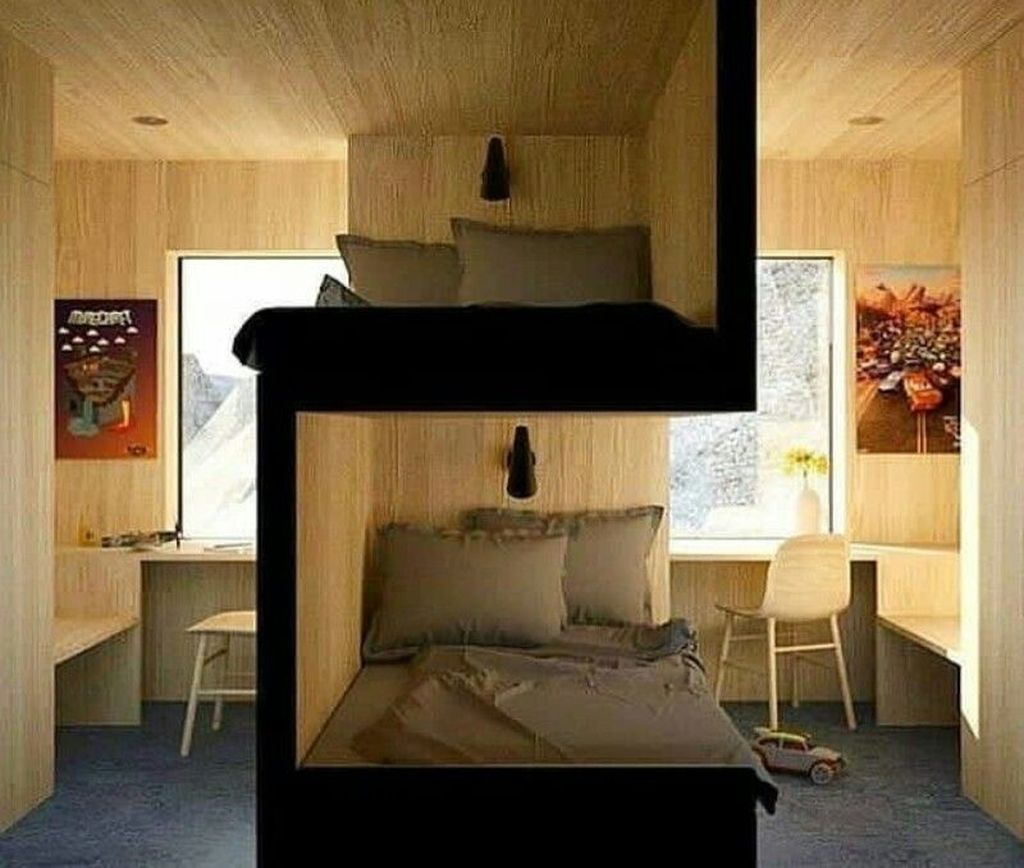 Fascinating Bunk Beds Design Ideas For Small Room 18