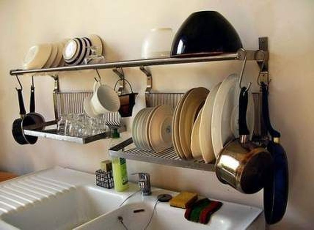 Inspiring Dish Rack Ideas For Your Kitchen 10