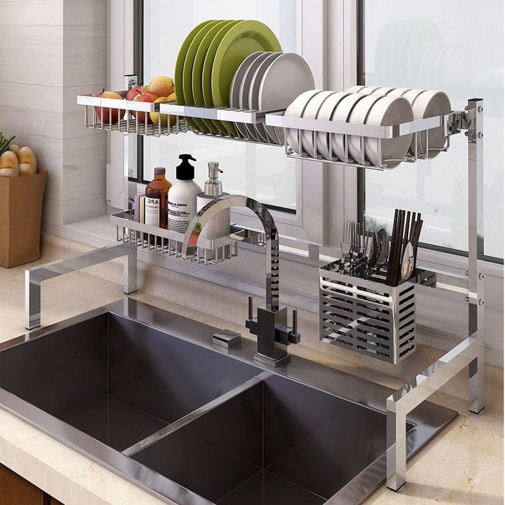 Inspiring Dish Rack Ideas For Your Kitchen 17