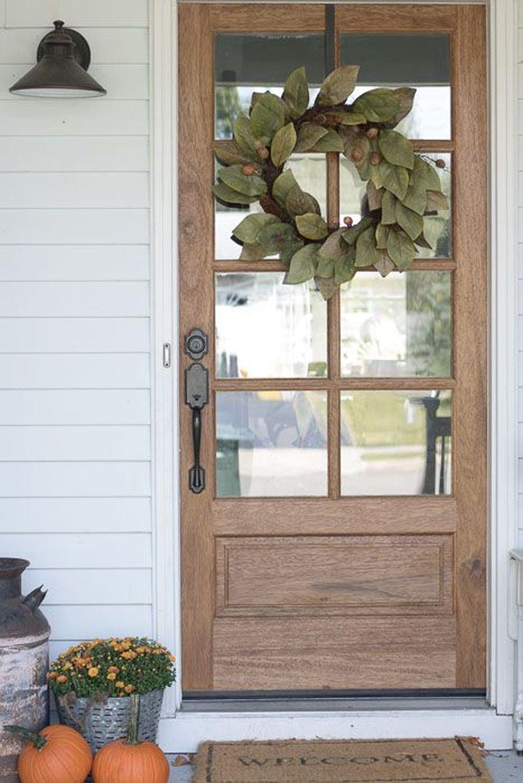 Inspiring Thanksgiving Front Door Decor Ideas 27