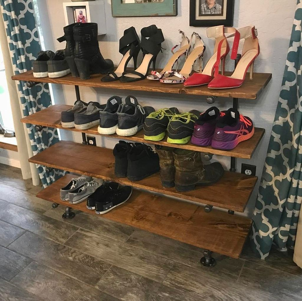 Nice Industrial Shoe Rack Design Ideas 01