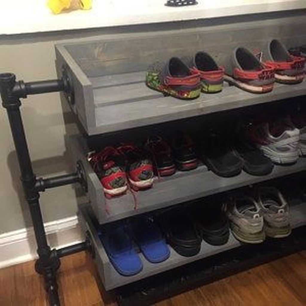 Nice Industrial Shoe Rack Design Ideas 13