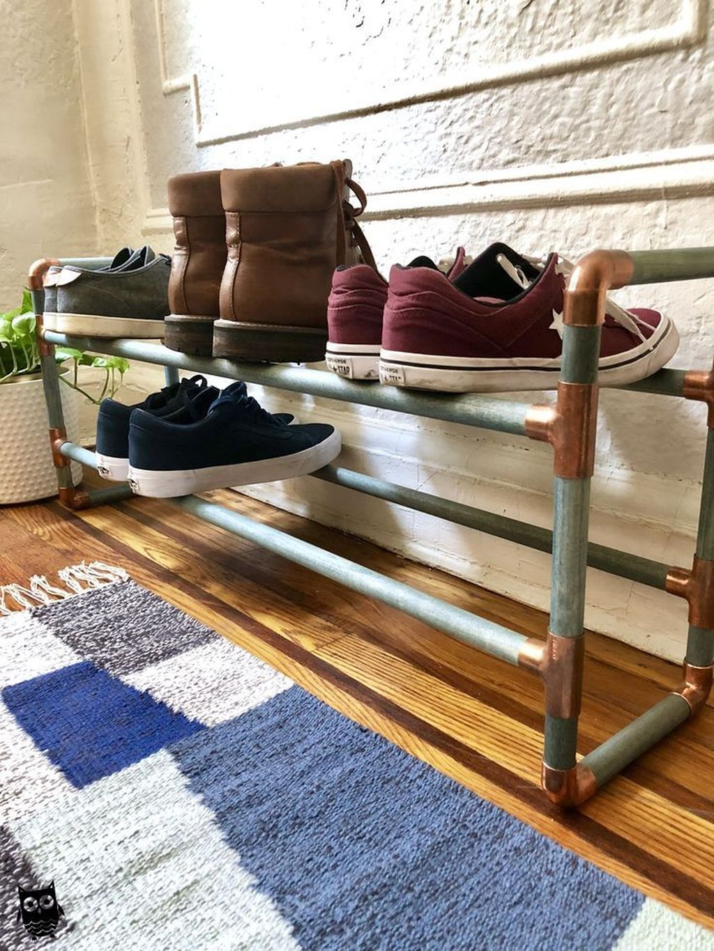 Nice Industrial Shoe Rack Design Ideas 18