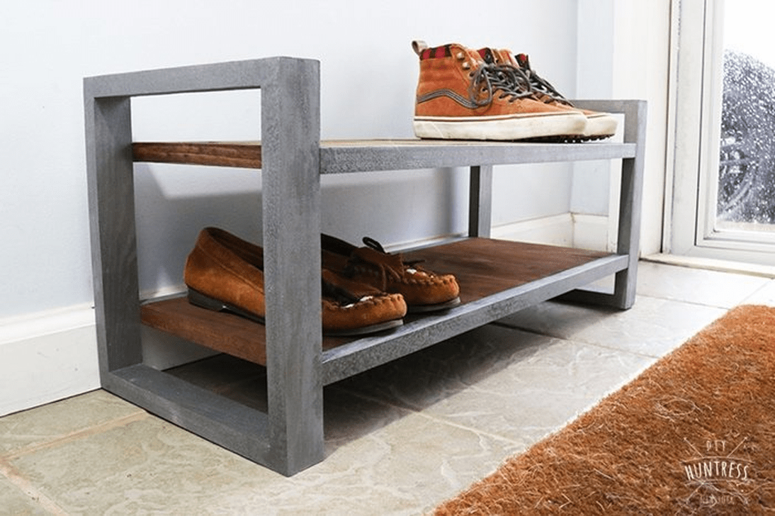 Nice Industrial Shoe Rack Design Ideas 19