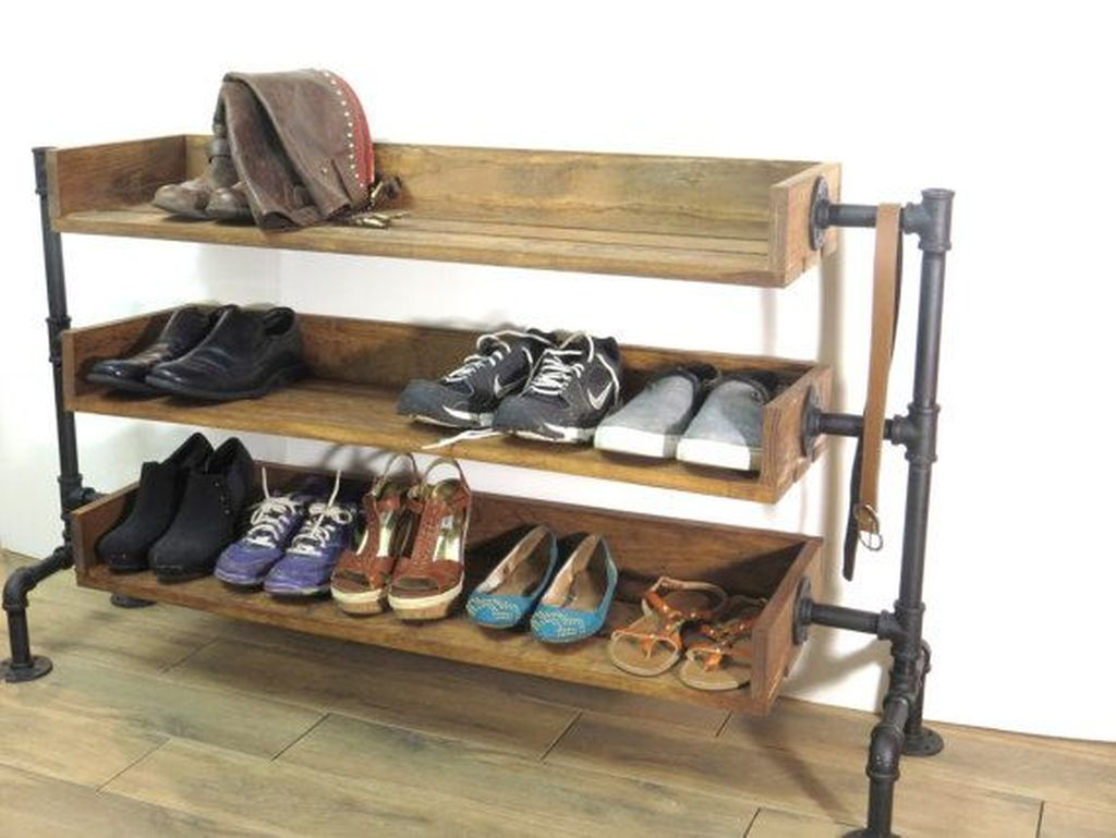 Nice Industrial Shoe Rack Design Ideas 30